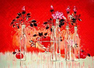 ミッシェル・アンリセリグラフ5本のバラ