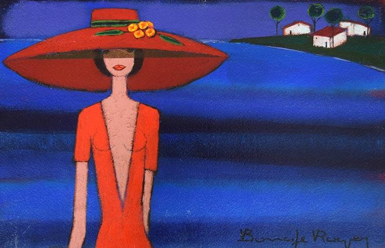 『帽子の花』ロジェ・ボナフェ/Roger Bonafe