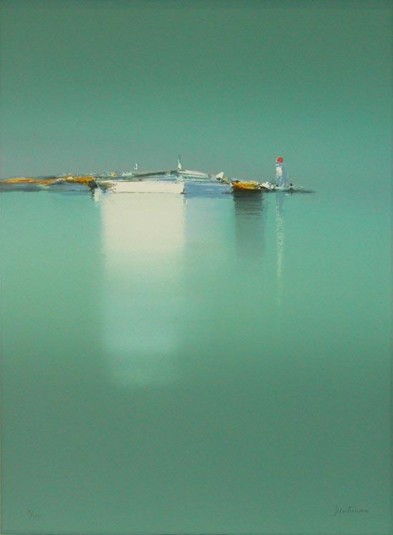 『小さな灯台リトグラフ』ピェール・ドートルロー/Pierre Doutreleau