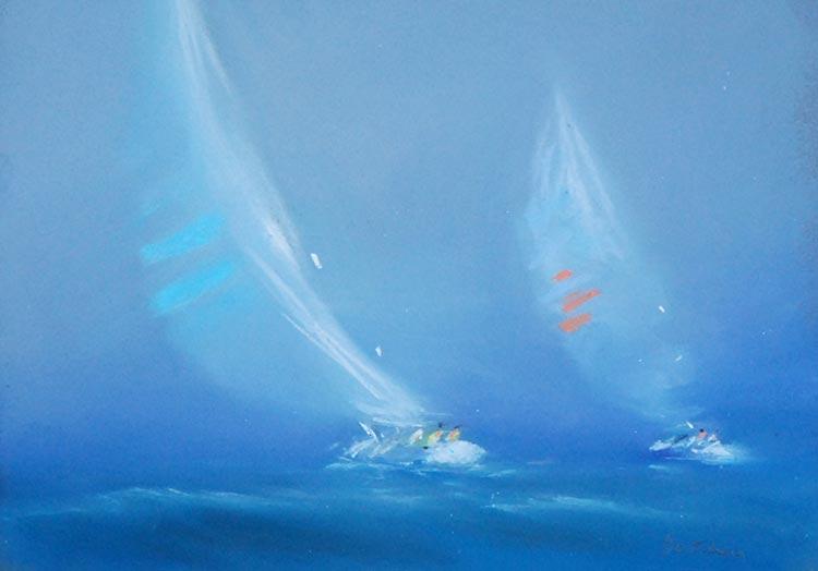 『風をはらむ帆』ピェール・ドートルロー/Pierre Doutreleau