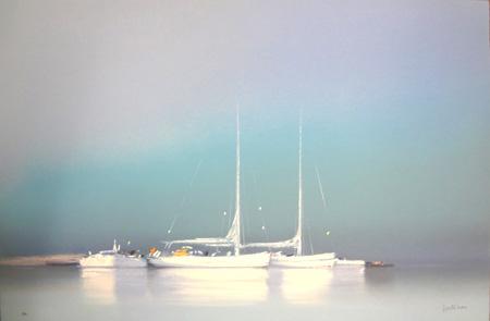 『白い帆船 II』ピェール・ドートルロー/Pierre Doutreleau