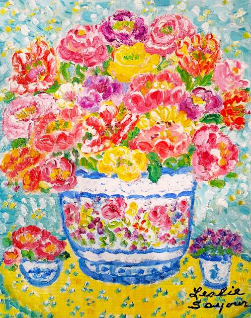 『Yellow Table』レスリー・セイヤー/Leslie Sayour