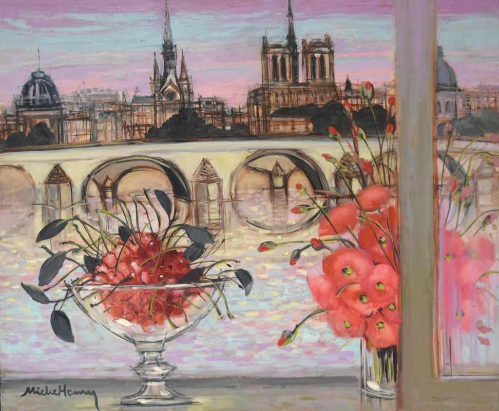 『サントシャペル、ノートルダム大聖堂、セーヌ川』ミッシェル・アンリ/Michel Henry