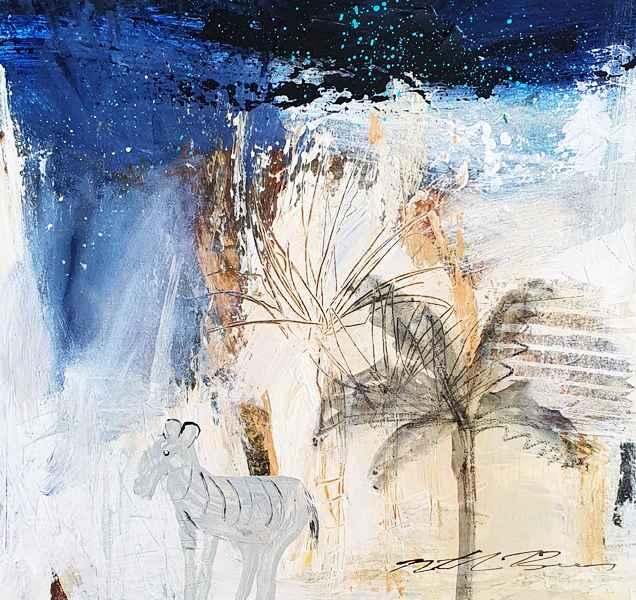 『Zebra  on a Starry night 』ナターシャ・バーンズ/Natasha Barnes
