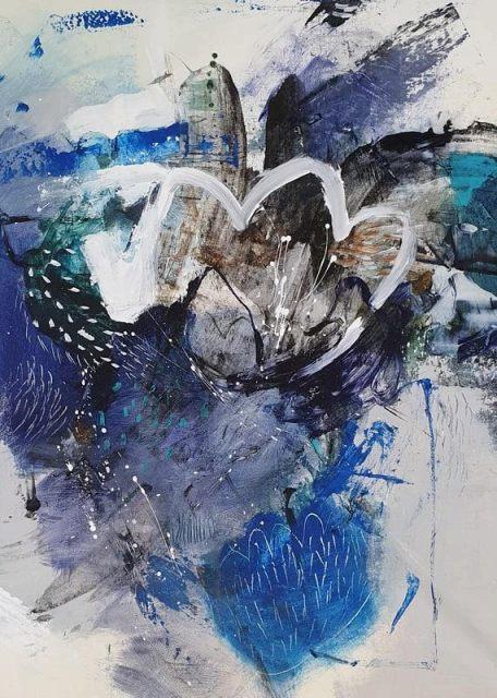 『Peacock with Lotus』ナターシャ・バーンズ/Natasha Barnes