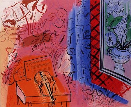 『ヴァイオリンのある静物』ラウル・デュフィ/Raoul Dufy