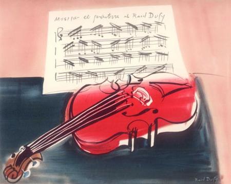 『赤いヴァイオリン』ラウル・デュフィ/Raoul Dufy