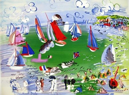 『ル・アーブル港に訪れた英国船』ラウル・デュフィ/Raoul Dufy