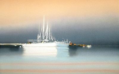 『霧の中の帆船Ⅱ』ピェール・ドートルロー/Pierre Doutreleau