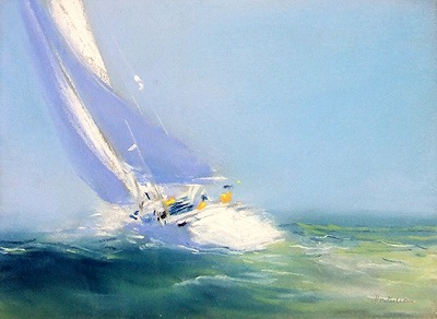 『青い海の疾走』ピェール・ドートルロー/Pierre Doutreleau
