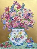 『Flowers in Herende Vase』レスリー・セイヤー/Leslie Sayour