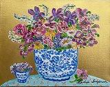 『Bouquet with Iris』レスリー・セイヤー/Leslie Sayour