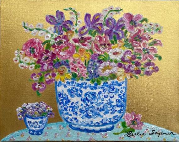 Flowers in Herende Vase